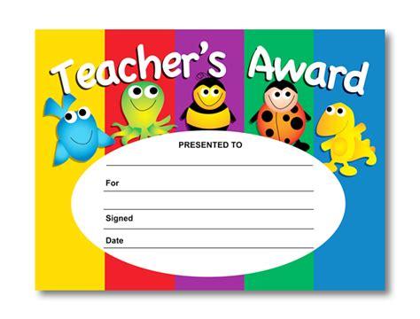 teachers award certificates