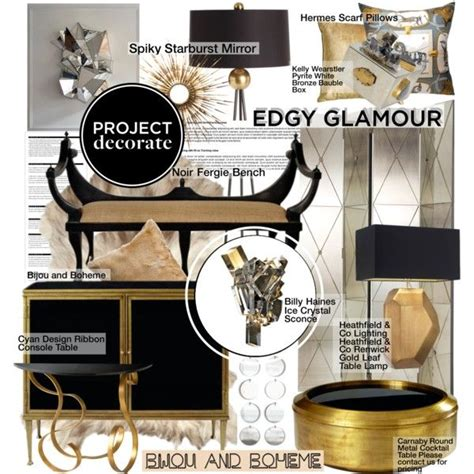 edgy home decor home decor inspiration edgy glamour quot project decorate edgy glamour with bijou and boheme quot by