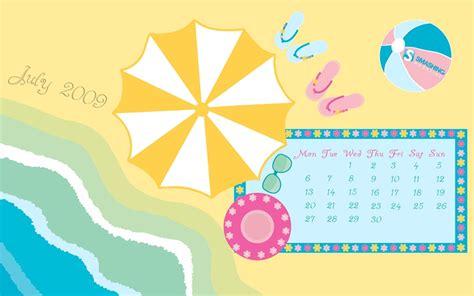 Calendario Julio 2009 Fondos De Escritorio Con Y Calendario Para Julio 2009