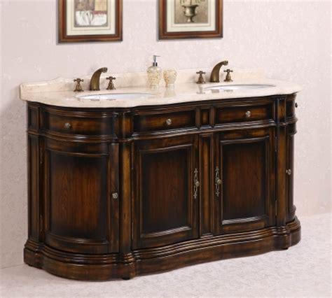 66 Inch Double Sink Bathroom Vanity with Cream Marble