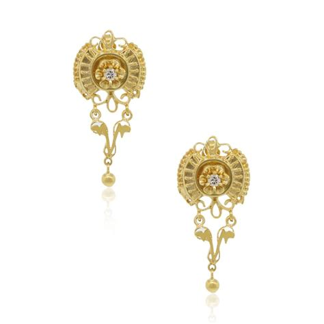 Gold X Earrings 14k yellow gold vintage earrings with 0 15ctw