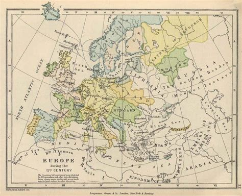 europe 15th century map map of 15th century europe history