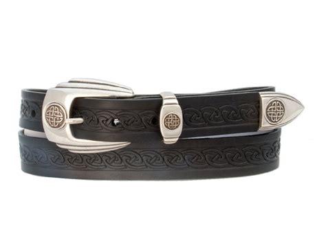 Handcrafted Leather Belt - celtic belt genuine leather handcrafted