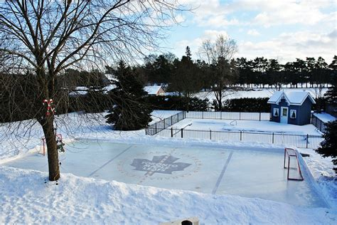 ice rink backyard iron sleek serves ontario and the gta