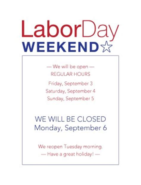 Labor Day Flyer Restaurant Flyer Closure Flyer Template