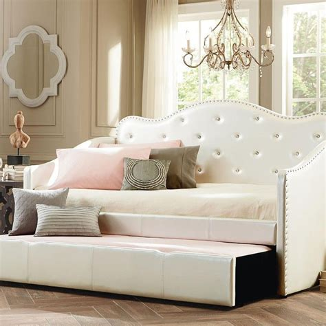 caroline daybed twin size daybed in antique white daybeds with trundle metal full size daybed with trundle