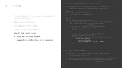 visitor pattern compile better code through lint and checkstyle