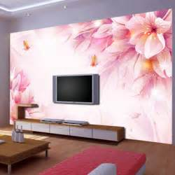 large flower wall murals custom 3d stereoscopic wallpaper swan room for the living