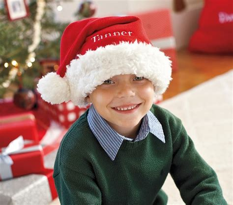 santa hats pottery barn kids