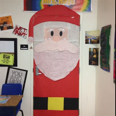 santa classroom door decoration idea myclassroomideas com
