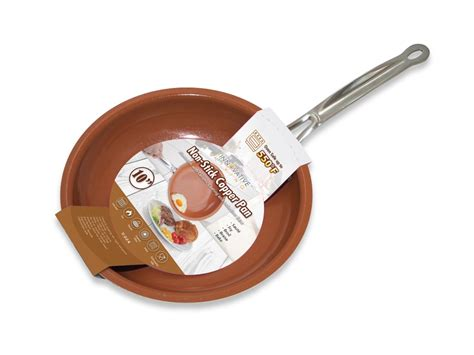 induction cooking non stick cookware non stick copper frying pan with ceramic coating and induction cooking oven dishwasher safe 10