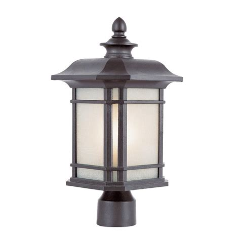 how to tea stain glass l shades canarm hayden 3 light black outdoor post light with