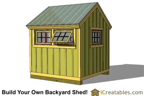 Storage Shed Plans 8x8 8x8 greenhouse shed plans storage shed plans icreatables