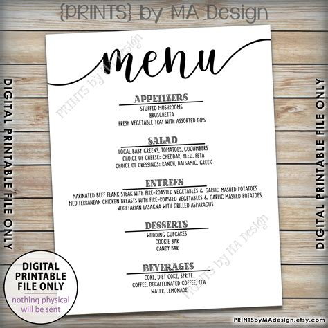 Endearing Word New Wedding Rehearsal Free Wedding Menu Template Word New Wedding Rehearsal Rehearsal Dinner Menu Template