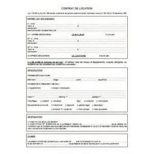 bail de location non meuble gratuit 3 contrat de location non meubl233 224 imprimer table