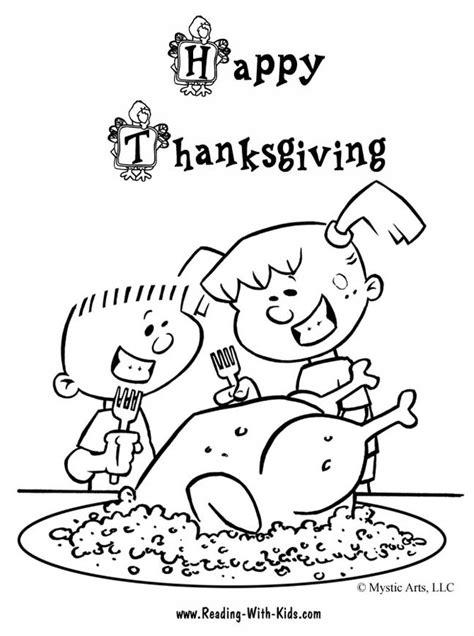thanksgiving az dibujos colorear