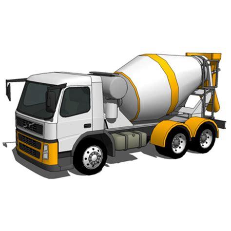 Concrete Mixer Truck 3D Model   FormFonts 3D Models & Textures
