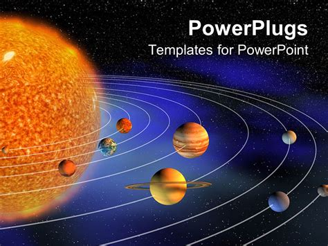 powerpoint template diagram representing planets of the