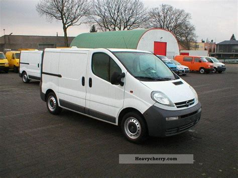 opel vivaro 2005 opel cdti vivaro service vehicle 2005 box type delivery