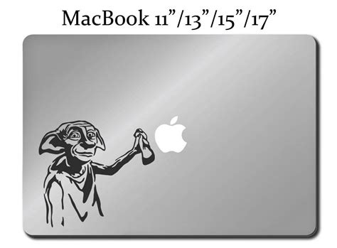 Decal Harry Potter Apple dobby harry potter decal laptop macbook mac pro air