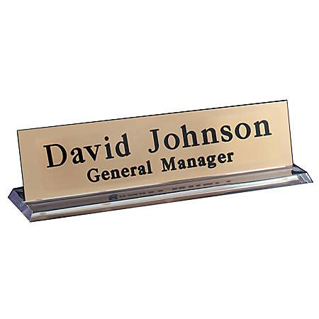on sign for desk engraved desk sign plexiglass base with acrylic engraved