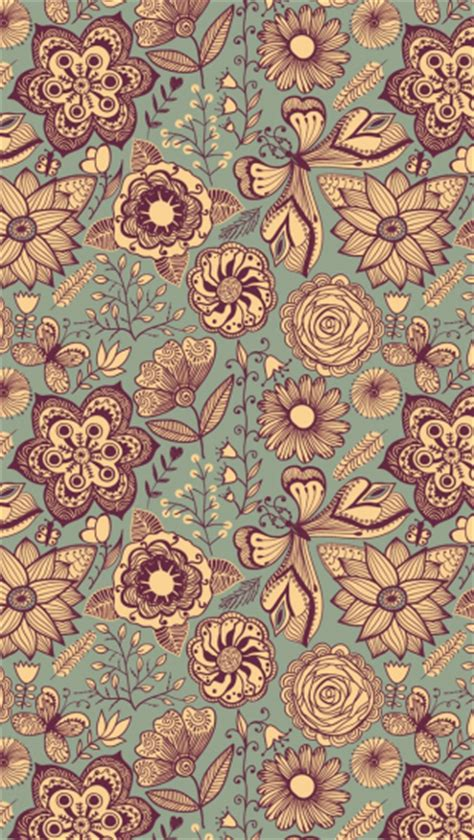 vintage pattern  iphone wallpapers