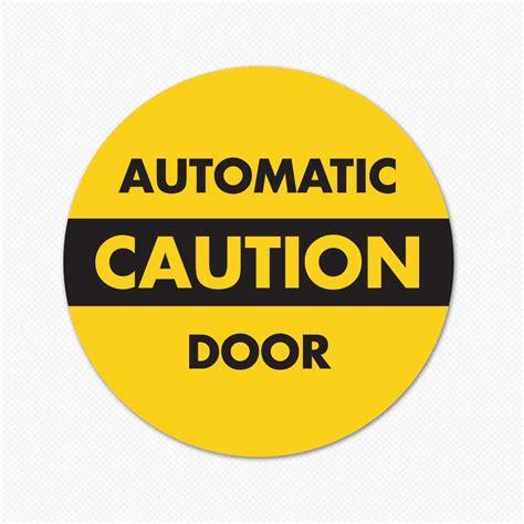 Dry Erase Wall Sticker automatic door caution sticker genius
