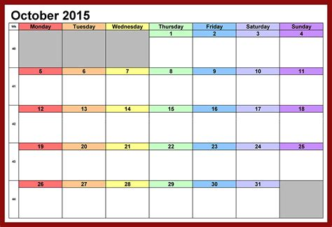 printable calendar october 2015 with holidays free download free october 2015 calendar pictures images