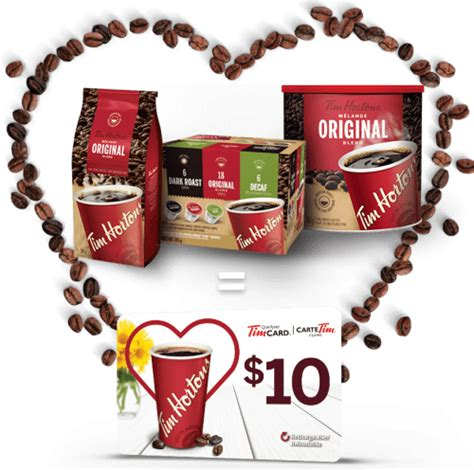Tim Hortons Gift Card Discount - tim hortons canada mother s day promotion bonus 10 tim horton s gift card for