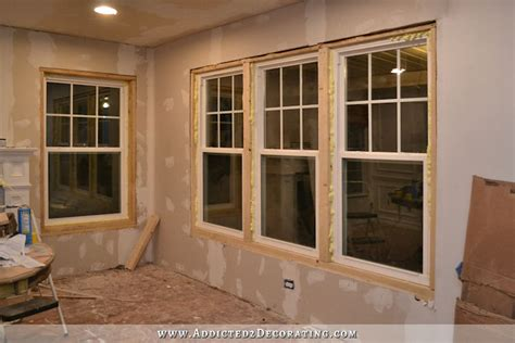 how to install a new window in a house dining room window trim progress