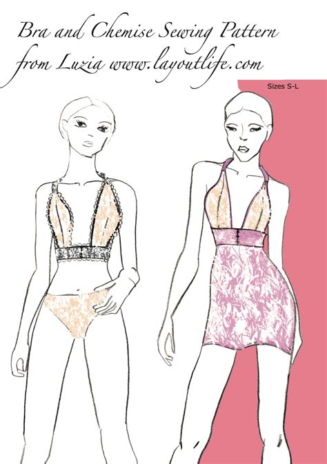 underwear pattern pinterest printable bra and chemise pattern sewing pattern