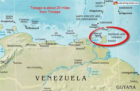 and tobago on the world map co op abroad discover tobago the worksthe works