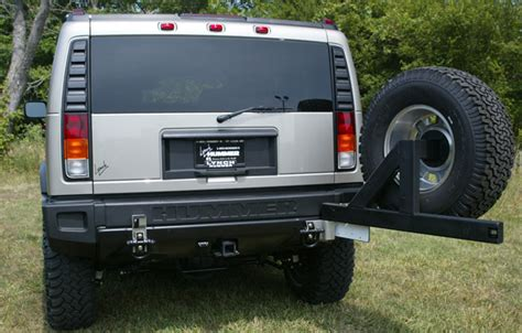 hummer h2 spare tire mount adventure accessories h2 swingaway tire carrier