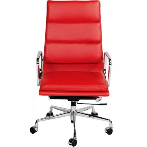 red office desk chair ea219 eames style office chair high back soft pad red