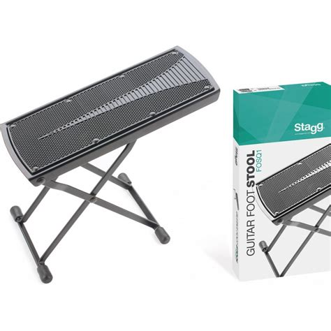 Adjustable Guitar Stool by New Stagg Fosq1 Foldable Adjustable Black Foot Stool For