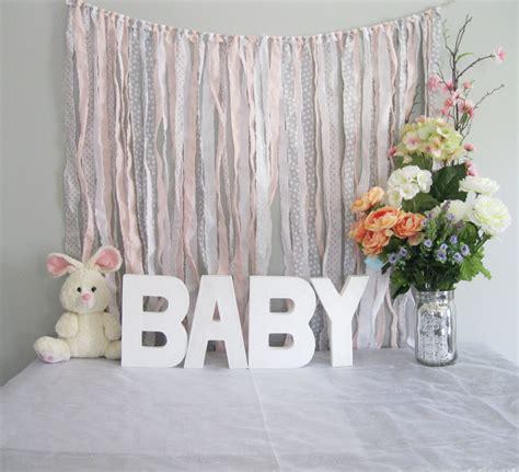 Backdrop Baby Shower by Ribbon Backdrop Shabby Baby Shower Backdrop Photobooth