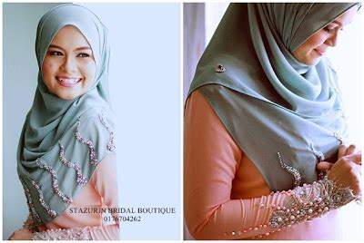 baju pengantin muslimah bukit beruntung stazurinweddings pelamin dewan pelamin tunang mini pelamin