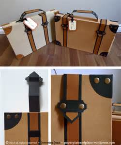 How To Make A Paper Suitcase - diy paper suitcase paper plate and plane