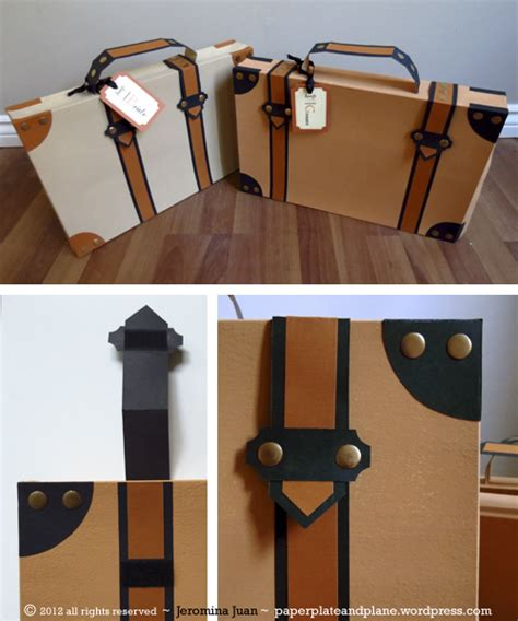 How To Make A Paper Suitcase - paper suitcases from t shirt boxes paper plate and plane