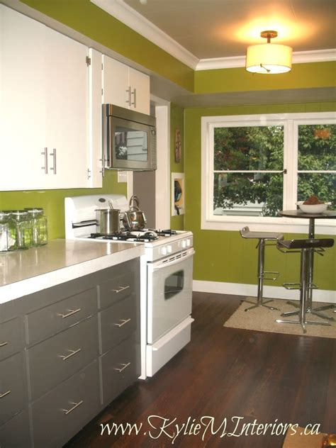 kitchen with green walls painted 1950 s kitchen cabinets amherst gray cloud white