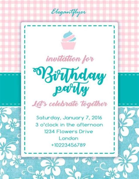 birthday invitation flyer template birthday invitation free flyer template
