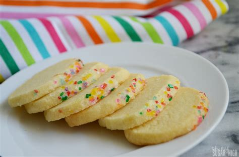 Rainbow Butter rainbow sparkling sugar butter cookies oh my sugar high