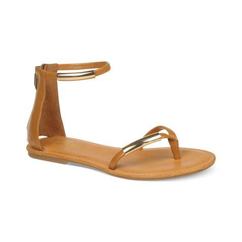 fergie sandals fergie ballot flat sandals in brown lyst