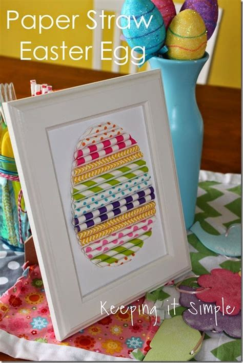 Paper Straw Craft Ideas - 12 last minute easter crafts tauni co