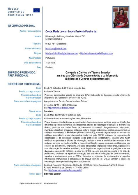 Cv Template Pt Leonor Pt Chaves 15 02 2012 Pt Template