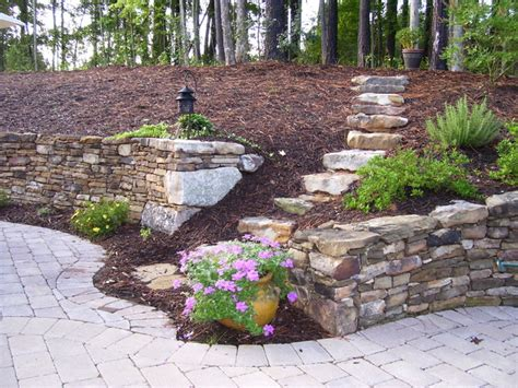 Retaining Wall Ideas For Backyard Retaining Wall Designs Ideas Retaining Wall Landscaping Ideas Retaining Walls Hillside