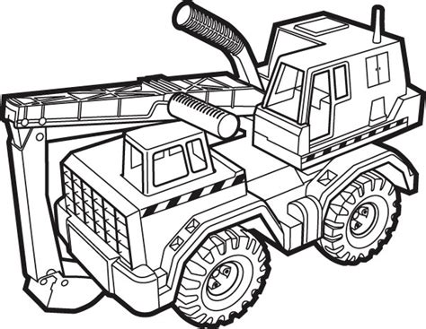 tonka truck coloring page kinder pret