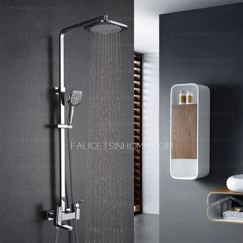Curtain Bath Outlet Modern Square Brass Rotate Bathroom Outdoor Shower Faucets