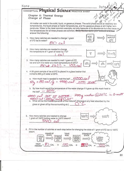 Phase Change Worksheet Answers With Work by 28 Phase Change Worksheet Answers With Work Foothill