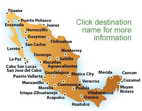 map of mexico vacation spots map of mexico beaches mexico vacations all inclusive